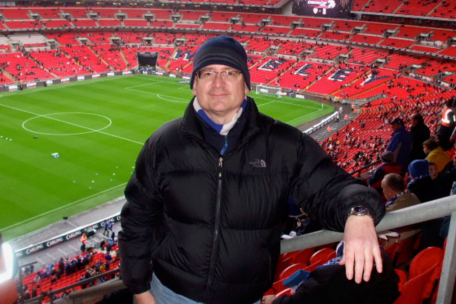 Adrian at the Carling Cup final at Wembley in 2011